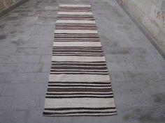 10'7'' X 2'7'' MINIMALIST STRIPED KILIM Runner-Minimalist Hallway by VINTAGEKILIM