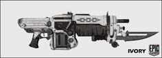 Gears of War 3 Pendulum Wars Lancer Prop Replica - IVORY