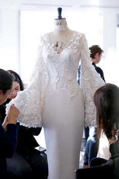 Ralph-&-Russo-SS16-couture-making-behind-the-scenes-lace-bell-sleeve-dress