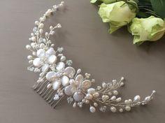 Perla de Mila pelo vid Tiara peluca tocado de cristal