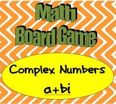 Would you like a different way for your high school students to review complex numbers? There are 45 game cards with questions on operations with complex numbers, quadratic equations with complex solutions and other topics. Keep students engaged with a game! Algebra Activities, Math Resources, Teaching Math, Teaching Ideas, Math Board Games, Math Boards, Math Games, Math For Kids, Fun Math