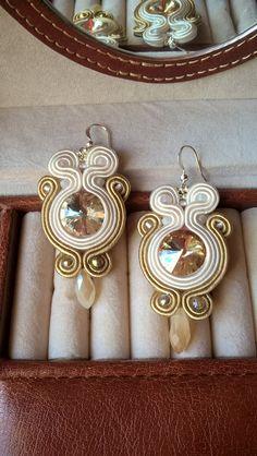 Gold and shining soutache earrings ;-)