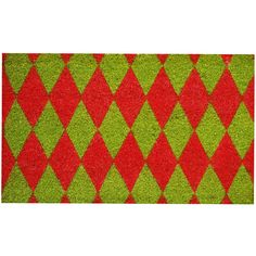 Home & More Christmas Argyle Doormat found on Polyvore