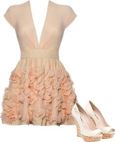 if only i had somewhere to wear this! the ruffles are a little much but i like the silouette, color, and neckline