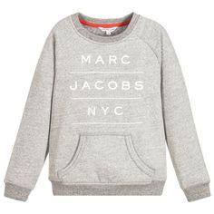 Little Marc Jacobs Grey Cotton Logo Sweatshirt  at Childrensalon.com