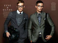 Nathaniel Visser & Alexander Hoad by Georges Antoni For Harpers Bazaar Man Australia SS 2014