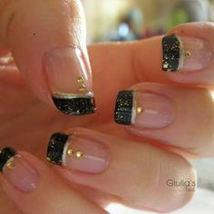 Beautiful black and gold nails