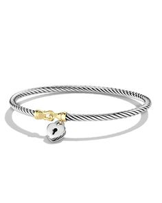 David Yurman  Cable Collectibles Heart Lock Bracelet with Gold  $525.00