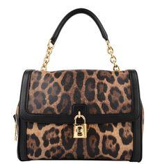 Dolce and Gabbana Crest Leopard Bag lol she loves her animal prints!!