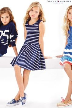 Buy Tommy Hilfiger Black/White Sophia Dress (7-16yrs) from the Next UK online shop
