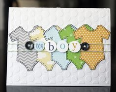 "Made using Bella Blvd's NEW Baby Boy Line and Bella Blvd/Unity stamps called, ""It's a Boy!"""