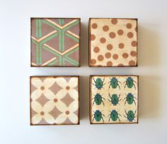 Art Block 4/Four set 5x5 Mix and Match wood FREE by redtilestudio, $108.00