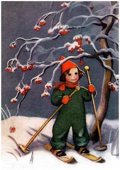 by Martha Wendelin Childrens Christmas, Old Christmas, Old Fashioned Christmas, Christmas Photos, Xmas, Images Noêl Vintages, Vintage Christmas Images, Winter Images, Winter's Tale
