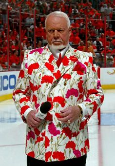 Don Cherry, once a hockey coach now Hockey Night in Canada commentator .. he's always so colourful!