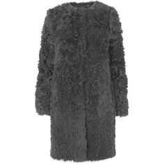 L.K. Bennett Murren Shearling Coat ($2,330) ❤ liked on Polyvore featuring outerwear, coats, collarless coat, shearling coat and l.k.bennett