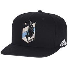Minnesota United FC adidas Snapback Adjustable Hat - Black Adidas Snapback 1deec1a2551f