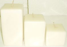 trio cuadrados, Velas artesanales hechas a mano, si quieres alguna de las velas expuestas en este tablero comunicate conmigo ya sea por este medio o solicita mi correo electronico sera un placer atenderte