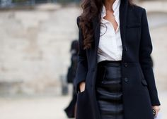 One of these days I need to invest in a black leather pencil skirt!