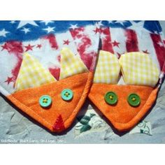 Cat and Mouse Hot Pad Set Handmade OOAK Kitchen