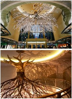 Heavy tree Deco.... The closest thing to a legit chandelier you'd see in my house!
