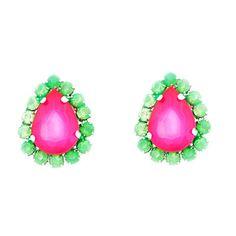 Watermelon Teardrop Earrings