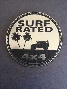 Surf Rated Jeep Badge