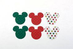 Christmas Mickey Mouse Confetti  Polka Dot by SammysCraftShop