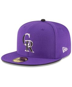 d3673cfa1fe New Era Kids  Colorado Rockies Authentic Collection 59FIFTY Cap - Purple 6  1 2