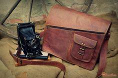 """Leather Satchel 14"""" / Messenger Bag 14"""" / Shoulder Bag / Hip Bag / Cross Body Bag / Carry Bag / Handbag / Laptop Bag / iPad Bag"""