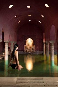 Feel like a sultan in #Granada and have an Arab bath at the hamman, after your #Alhambra visit