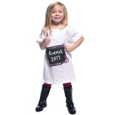 Chalkboard Frame T-Shirt - Super cool graduation ceremony or gift idea! cotton tee features a chalkboard frame that can be written upon with chalk. Graduation Message, Graduation Cap And Gown, Graduation Day, Preschool Graduation Gifts, Kindergarten Graduation, Framed Chalkboard, Cotton Tee, Early Childhood, Tees