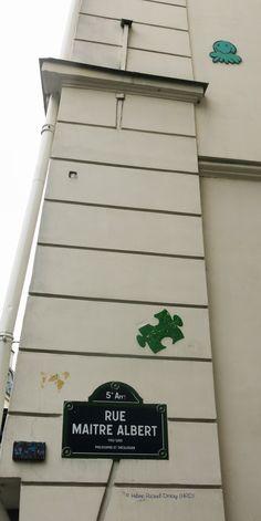 Pieuvre (Artiste : GZ'UP) et Puzzle (Artiste : Béa Pyl)_Paris (France)_Rue Maître Albert (5è Arrt)_2014-10-25 © Hélène Ricaud-Droisy (HRD)