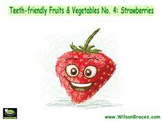 TEETH-FRIENDLY FRUITS AND VEGETABLES NO. 8: STRAWBERRIES Wilson Orthodontics•1220 Sherwood Park Drive NE, Gainesville, GA 30501 770-536-0882 #teethfriendly #fruits #vegetables #strawberries #GAorthodontics