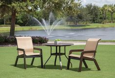 Laguna Sling MGP outdoor furniture collection by Windward Design Group - a family owned and operated US manufacturer. Outdoor Furniture Sets, Outdoor Decor, Furniture Collection, Patio, Group, Beautiful, Design, Home Decor, Decoration Home