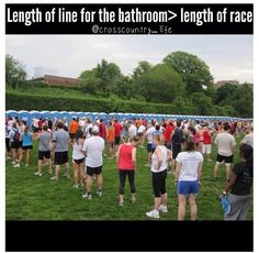 Was stuck in a line like this 6 min. Girl comes up and tells me about a nearby bathroom building, 20 ft away with 20 empty stalls! Thanks stranger! Funny Running Memes, Running Humor, Running Quotes, Running Motivation, Running Workouts, Running Tips, Running Track, Cross Country Quotes, Cross Country Running
