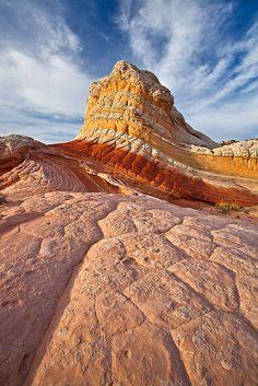 Lollipop Rock, White Pocket, Vermilion Cliffs National Monument, Arizona by Guy Schmickle
