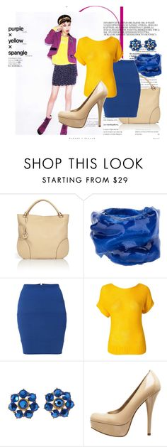 """""""Color Blocking"""" by kpopfoodandstuff ❤ liked on Polyvore featuring Salvatore Ferragamo, Therapy, Vero Moda, M.Flynn and Rica"""