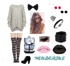 """""""Wonderland"""" by skykittan360 on Polyvore featuring Bodhi, Disney, New Look and Saachi"""