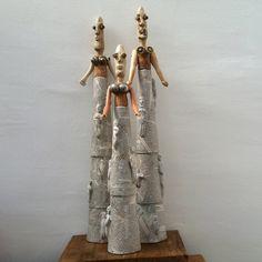 Three Women #catherine phelps #sculpture #foundart #chatelaine