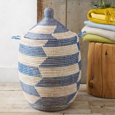 West Elm laundry basket