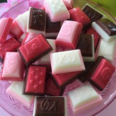 Valentine Chocolate Candy Mini Soaps by SeasideSoapKitchen