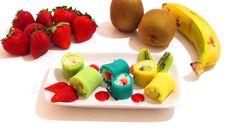 Trampantojo: Sushi de arroz con leche, crepes y fruta. Recetas fáciles y...