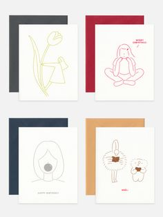 'O! Paper' cards and stationery by Melbourne illustrator Emi Ueoka, launching today!