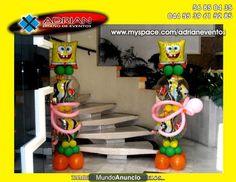 decoracion con globos para fiestas infantiles decoracion de bob esponja globos de bob esponja