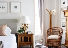 Adelaide Bragg & Associates #interiordesign #adelaidebragg #design #innercity #homedecor #apartment #bedroom #guest #lamps #bedsidetables Melbourne Apartment, Wall Finishes, Classic Interior, Dresser As Nightstand, Bedroom Storage, Soft Furnishings, Apartment Living, Interior Design, House
