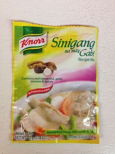Knorr Tamarind Soup Mix with Taro, Philippines.