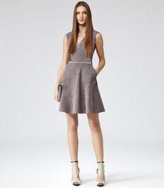 Ella SATIN PANEL LACE DRESS on shopstyle.com