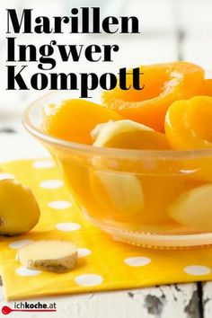 Super erfrischend: Marillen-Kompott mit Ingwer Super, Cantaloupe, Fruit, Breakfast, Food, Juice, Food Dinners, Cooking Recipes, Food Food