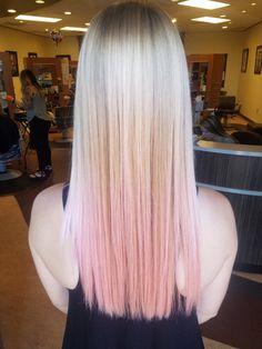 #lisdoeshair #eclektica #bestsalonkc #kansascityhair #viralshampoo #pinkhair #summerhaircolor #summerhair #pinkombre #blondie #blonde #ombre - Call to book with Elisa 816.587.4159. - Eclektica Salon KC MO