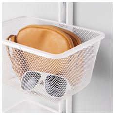 IKEA - ALGOT Mesh basket with bracket white
